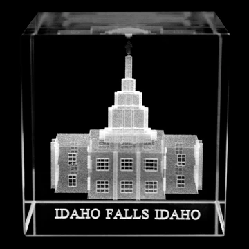RM - Temple Crystal Cube - Idaho Falls Idaho   <BR/>「アイダホ州 アイダホ・フォールズ神殿」クリスタルキューブ