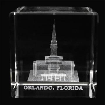 RM - Temple Crystal Cube - Orlando Florida  <BR/>「フロリダ州 オーランド神殿」クリスタルキューブ