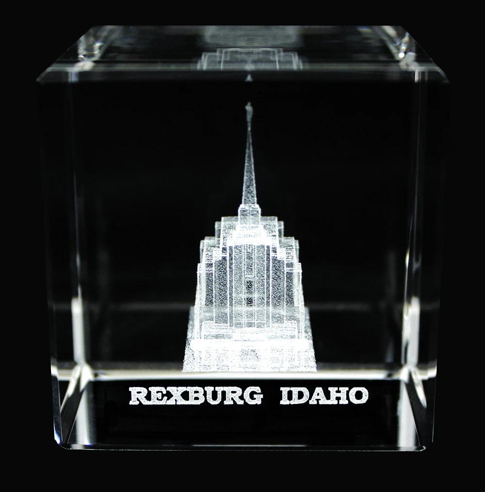 RM - Temple Crystal Cube - Rexburg Idaho  <BR/>「アイダホ州 レクスバーグ 神殿」クリスタルキューブ