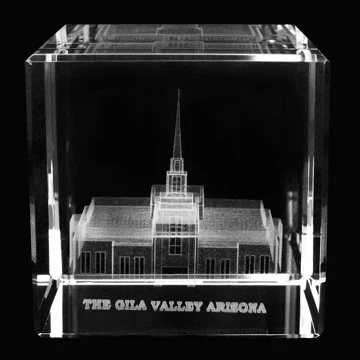 RM - Temple Crystal Cube - The Gila Valley Arizona  <BR/>「アリゾナ州 ヒラバレー神殿」クリスタルキューブ