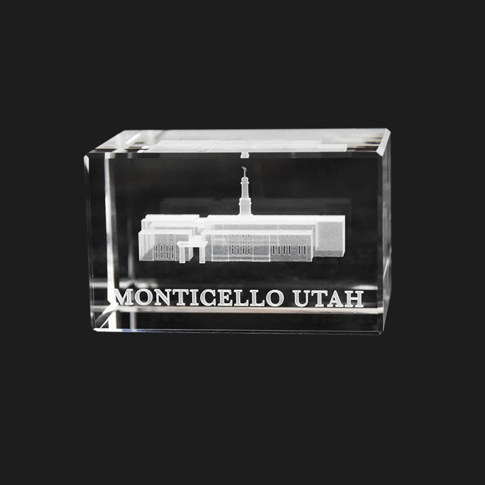 RM - Temple Crystal Cube - Monticello Utah <BR/>「ユタ州 モンティセロ神殿」クリスタルキューブ