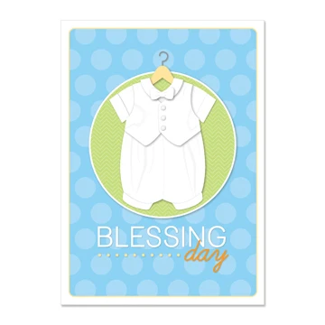 RM - Greeting Card  - Blessing Day - Boy<BR>カード - 幼児の祝福の日(封筒なし)(男の子)
