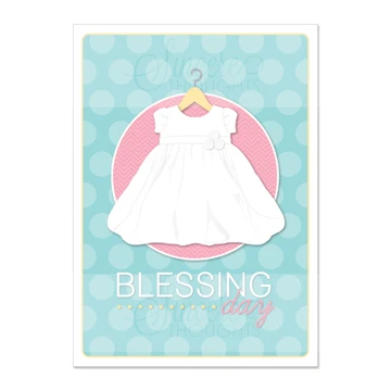RM - Greeting Card  - Blessing Day - Girl<BR>カード - 幼児の祝福の日(封筒なし)(女の子)