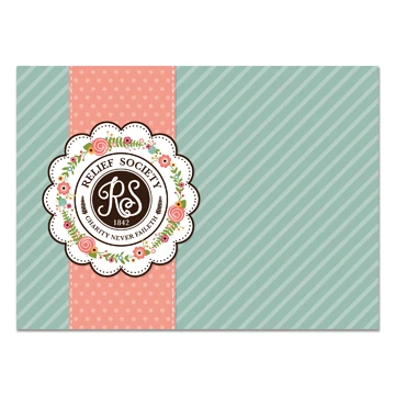 RM - Greeting Card  - Relief Society<BR>カード - 扶助協会(封筒なし)