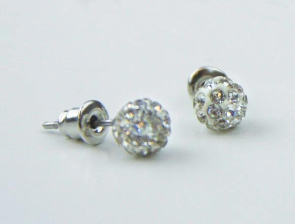 CF - Earrings - Baptism - Earrings - White Sparkle<BR>白く輝くイヤリング
