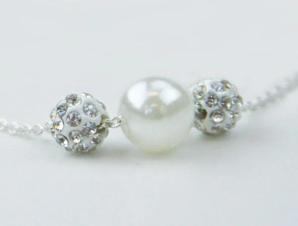 CF - Bracelet - Baptism - Bracelet - White Sparkle<BR>白く輝くバプテスマブレスレット