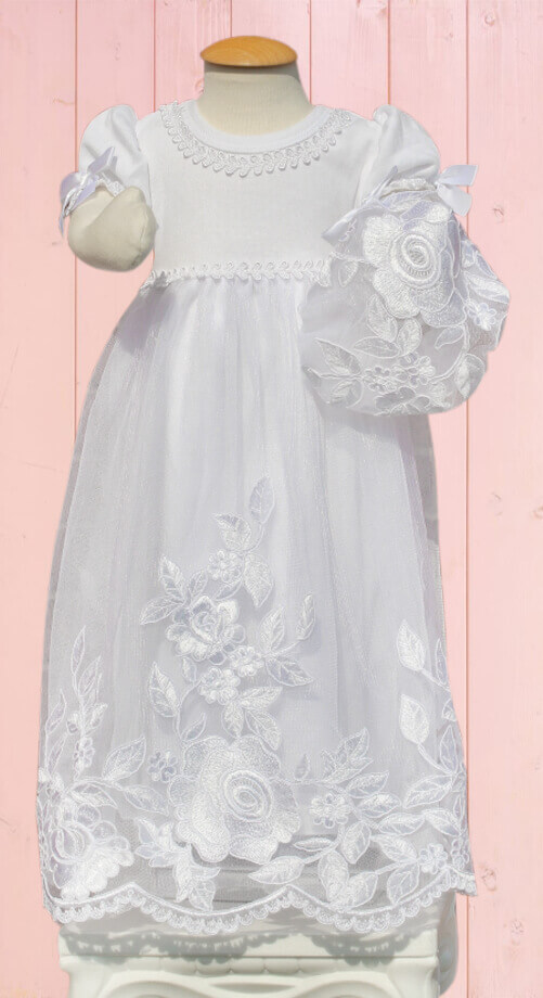 WE - Baby Blessing Outfit - Sweet Rosie<BR>ベビー用ドレス 「スウィートロージー」