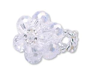 CF - Ring - Flower - Baptism - Ring - White<BR>花柄バプテスマリング(白)