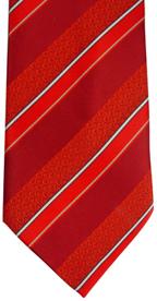 RM - Tie - CTR Child Stripe Red Clip-Adjustable <BR>CTR子供用タイ ストライプレッド (サイズ調整可)