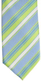 RM - Tie - Youth Striped Green/Blue<BR>ネクタイ (ユース) /ストライプグリーン&ブルー
