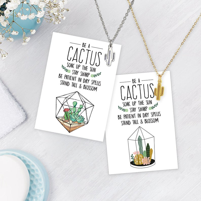 RM - Necklace - Be A Cactus Dainty Necklace (Silver)<BR/>上品なサボテンネックレス(シルバー)
