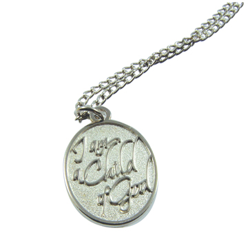 RM - Necklace - Child of God Silver Finish Necklace<BR>神の子ですシルバーネックレス